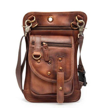 Load image into Gallery viewer, Genuine Leather Waist Drop Leg  Messenger Bag