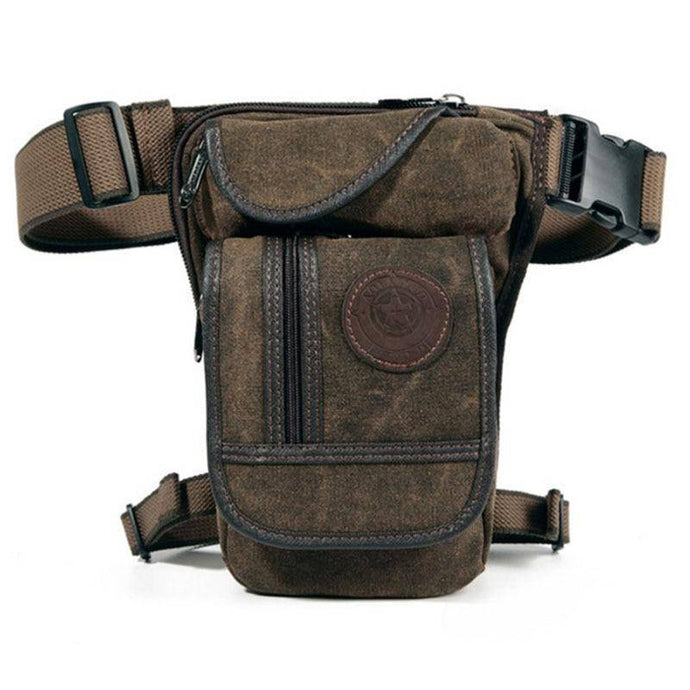 Vintage Drop Leg Bag Military Tactical for Ride Motorcycle Nylon/Canvas