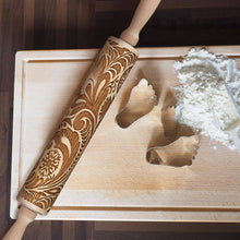 Load image into Gallery viewer, 4form Holiday Embossing Rolling Pin Baking Cookies