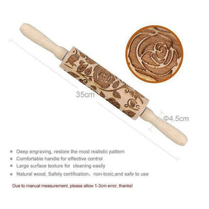 4form Holiday Embossing Rolling Pin Baking Cookies