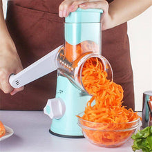 Load image into Gallery viewer, Manual Roller Vegetable Slicer.  Detachable 3 Stainless Steel Blades