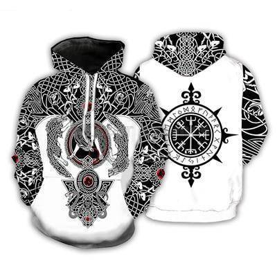 Viking Tattoo 3D All Over Printed Unisex Hoodie