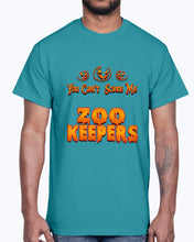 Load image into Gallery viewer, Men's Gildan Ultra Cotton T-Shirt .You Can't Scare Me I Am A Zoo Keepers Halloween