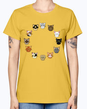 Load image into Gallery viewer, Gildan Ladies Missy T-Shirt. 12 cat heads Kids' Shirts