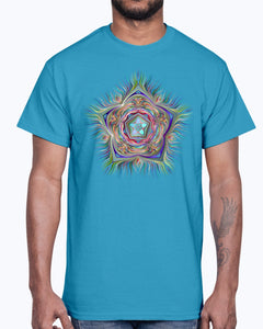 Men's Gildan Ultra Cotton T-Shirt . Chromatic Starfish