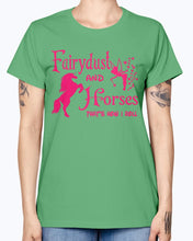 Load image into Gallery viewer, Gildan Ladies Missy T-Shirt Fairydust and horse t shirt