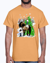 Load image into Gallery viewer, Men's Gildan Ultra Cotton T-Shirt.  A horse and kid Christmas