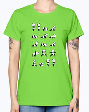 Load image into Gallery viewer, Gildan Ladies Missy T-Shirt . Yoga Panda