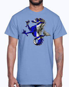 Men's Gildan Ultra Cotton T-Shirt .Atlantia heraldic seahorse