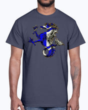Load image into Gallery viewer, Men's Gildan Ultra Cotton T-Shirt .Atlantia heraldic seahorse
