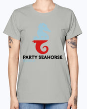 Load image into Gallery viewer, Gildan Ladies Missy T-Shirt  Party Animals Seahorse . Polo Shirts