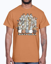 Load image into Gallery viewer, Men's Gildan Ultra Cotton T-Shirt   Colorful pile of horses