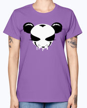 Load image into Gallery viewer, Gildan Ladies Missy T-Shirt . A panda face as a graffiti design