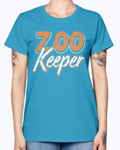 Gildan Ladies Missy T-Shirt 16 colors . Zoo Keeper