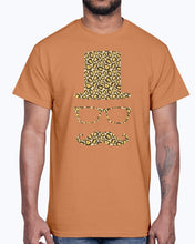 Load image into Gallery viewer, Men's Gildan Ultra Cotton T-Shirt 12 Dark colors.  Sir Gentleman Leopard Style