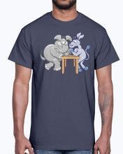 Load image into Gallery viewer, Men's Gildan Ultra Cotton T-Shirt   Arm Wrestling Donkey vs Elephant Mugs & Drinkware