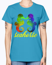 Load image into Gallery viewer, Gildan Ladies Missy T-Shirt   Love Seahorse Shirt