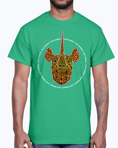 G2000 Unisex Ultra Cotton T-Shirt 12 Colors.  Dust Rhinos Orange Knotwork