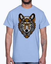 Load image into Gallery viewer, Men's Gildan Ultra Cotton T-Shirt 12 Dark colors   Wolf wolfes wolves