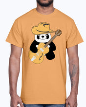Load image into Gallery viewer, Men's Gildan Ultra Cotton T-Shirt  Funny panda with guitar