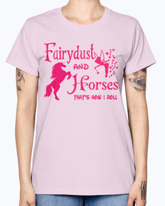 Gildan Ladies Missy T-Shirt Fairydust and horse t shirt