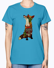 Load image into Gallery viewer, Gildan Ladies Missy T-Shirt 16 Light Colors   Floral Fox