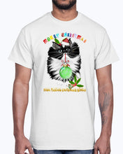 Load image into Gallery viewer, Men's Gildan Ultra Cotton T-Shirt  A Tuxedo Kitten Christmas (Mens)