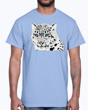Load image into Gallery viewer, Men's Gildan Ultra Cotton T-Shirt 12 Dark colors   Animal snow leopard