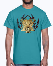 Load image into Gallery viewer, Men's Gildan Ultra Cotton T-Shirt 12 Dark colors.  Leopard