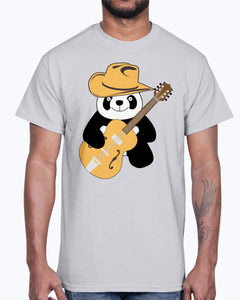 Men's Gildan Ultra Cotton T-Shirt  Funny panda with guitar