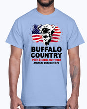 Load image into Gallery viewer, Men's Gildan Ultra Cotton T-Shirt 12 Dark colors  Buffalo Country
