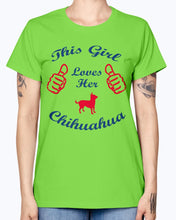 Load image into Gallery viewer, Gildan Ladies Missy T-Shirt    Chihuaha