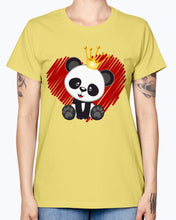 Load image into Gallery viewer, Gildan Ladies Missy T-Shirt. Cute panda love.