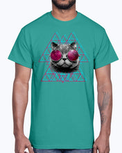 Load image into Gallery viewer, Men's Gildan Ultra Cotton T-Shirt  3D Space Cat  (Mens)