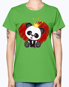 Gildan Ladies Missy T-Shirt. Cute panda love.
