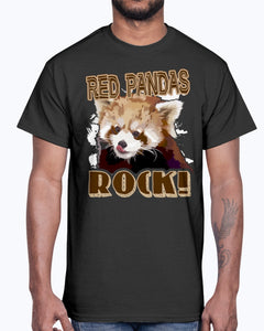 Men's Gildan Ultra Cotton T-Shirt Graffiti Skateboarder. RED PANDAS ROCK