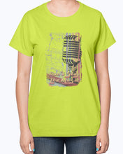 "Load image into Gallery viewer, Gildan 2000L Ultra Cotton Ladies T-Shirt 14 colors Light   Don""t  stop the music,  design-353"