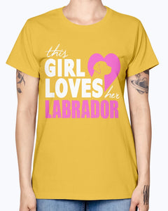 Gildan Ladies Missy T-Shirt 16 colors   The girl loves her labrador