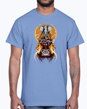 Load image into Gallery viewer, Men's Gildan Ultra Cotton T-Shirt Light coloros. White Elephant, Lions, and Birds Vintage Designer