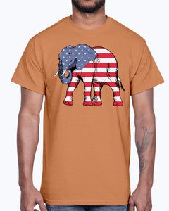 Men's Gildan Ultra Cotton T-Shirt        American Elephant