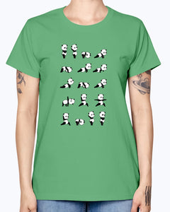 Gildan Ladies Missy T-Shirt . Yoga Panda