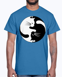 Men's Gildan Ultra Cotton T-Shirt   Cats yin (Mens)