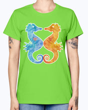 Load image into Gallery viewer, Gildan Ladies Missy T-Shirt. Seahorses in Love