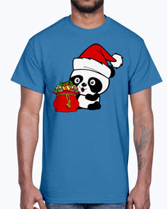 Men's Gildan Ultra Cotton T-Shirt .Santa Panda
