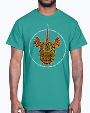 Load image into Gallery viewer, Men's Gildan Ultra Cotton T-Shirt 12 Dark colors.   Dust Rhinos Orange Knotwork