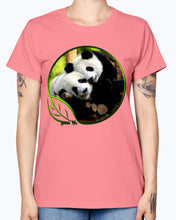 Load image into Gallery viewer, Gildan Ladies Missy T-Shirt  Green Life Panda's