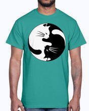Load image into Gallery viewer, Men's Gildan Ultra Cotton T-Shirt   Cats yin (Mens)