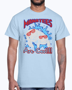 G2000 Unisex Ultra Cotton T-Shirt 12 Colors. COOL MANATEE