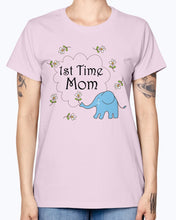 Load image into Gallery viewer, Gildan Ladies Missy T-Shirt   1st Time Mom Maternity