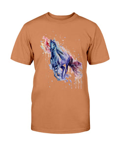 Men's Gildan Ultra Cotton T-Shirt . Colorful horse
